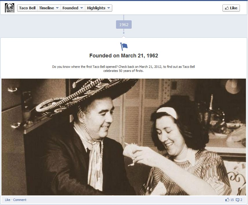 Facebook Fan Page Timeline View - A Milesone