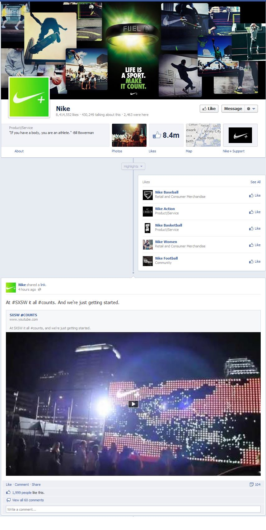 Facebook Fan Page Timeline View - A Starred Post