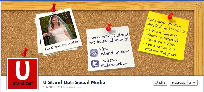 Facebook Fan Page Timeline View - U Stand Out